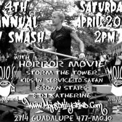 Flier for 4th TV Smash at Mojo's